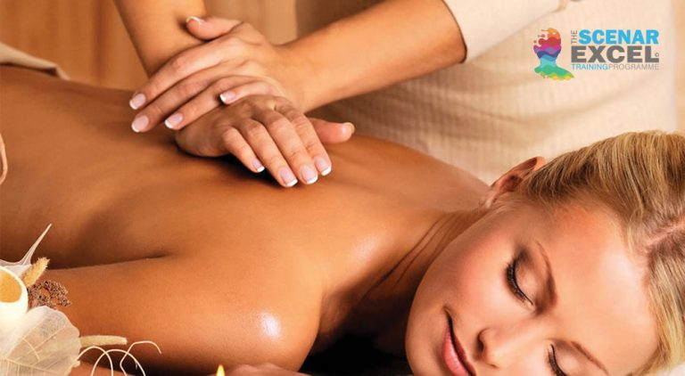The importance of a regular massage. Lady having a massage